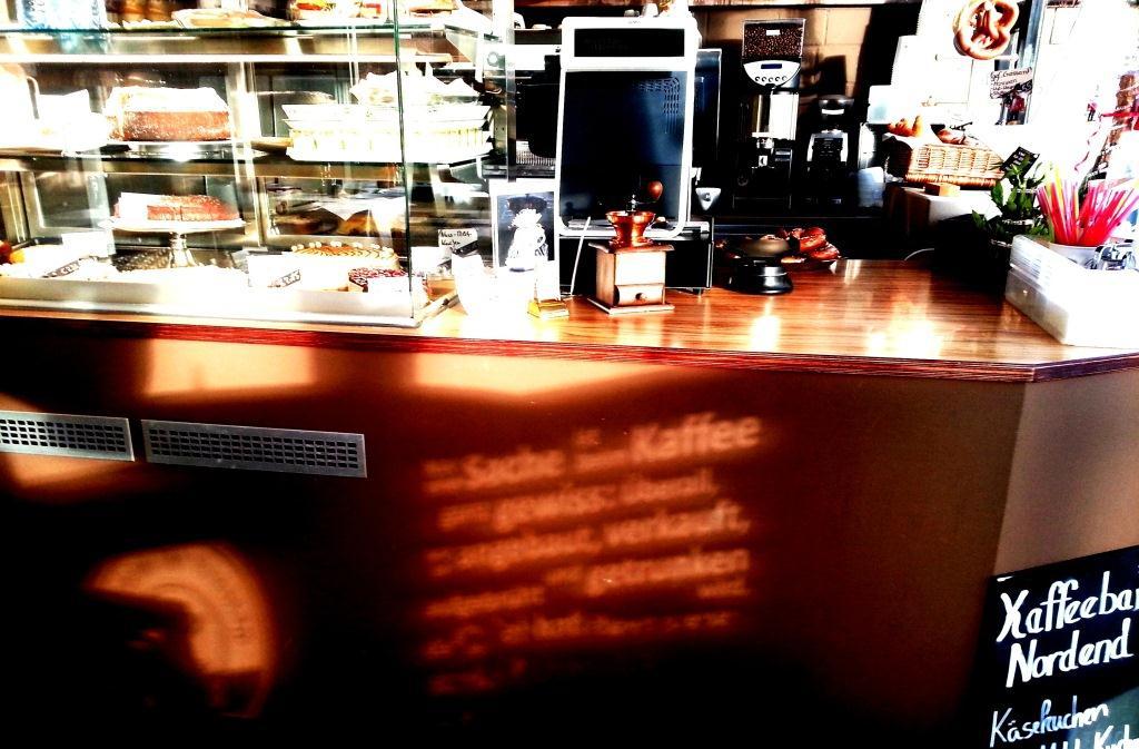 Kaffeebar in der Sonne