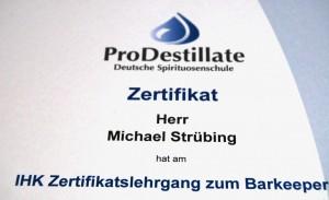 Barkeeper-Zertifikat